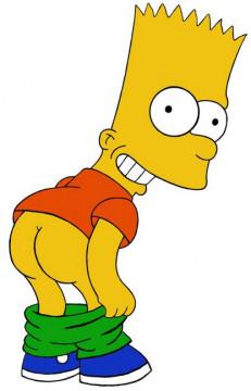 Autocolante Impresso - Bart Simpson Rabo