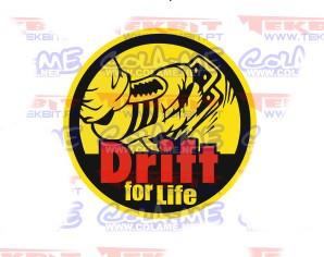 Autocolante Impresso - Drift for Life