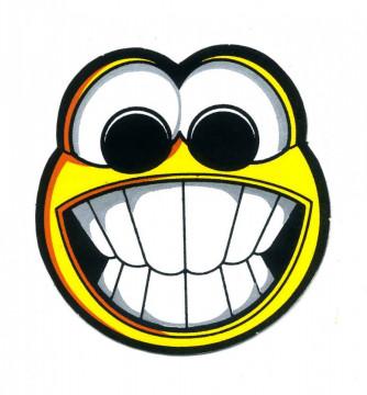 Autocolante Impresso - Smile dentes