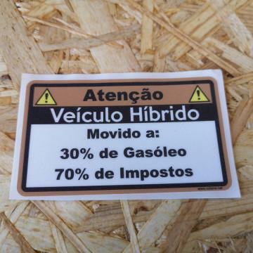 Autocolante Impresso - Veículo Hibrido (Gasóleo)