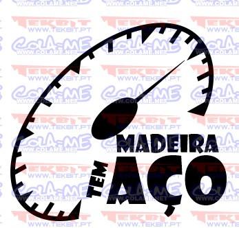 Autocolante - Madeira tem aço