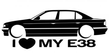 Autocolante para I love BMW E38