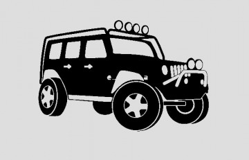Autocolante para Jeep Wrangler