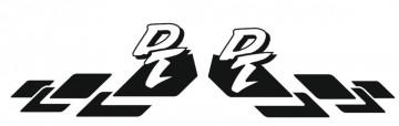 Autocolante para Yamaha DT (par)