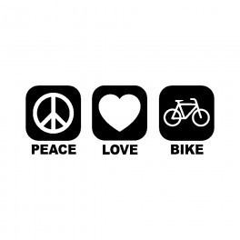 Autocolante - Peace Love Bike