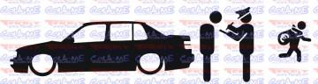 Autocolante - Policia e ladrões - VW golf Jetta