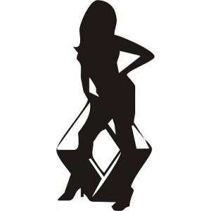 Autocolante - Renault mulher