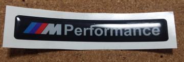 Autocolante Resinado 3D para BMW Performance - 74 x 11mm