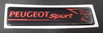 Autocolante Resinado 3D para Peugeot Sport - 110 x 27mm
