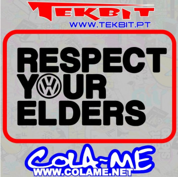 Autocolante - Respect Your Elders (VW)