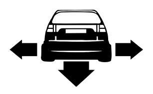Autocolante - Seat Ibiza 6K - Traseira (Baixo e Largo)
