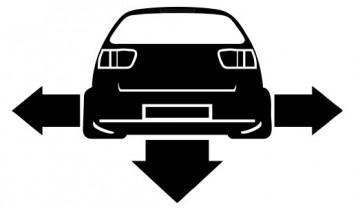 Autocolante - Seat Ibiza 6K2 - Traseira (Baixo e Largo)