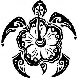 Autocolante - Tartaruga Tribal