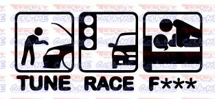Autocolante - TUNE RACE F***