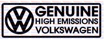 Autocolante - Volkswagen Genuine high emitions