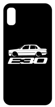 Capa de telemóvel com BMW E30 sedan