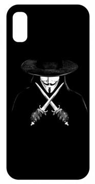 Capa de telemóvel com V For Vendetta