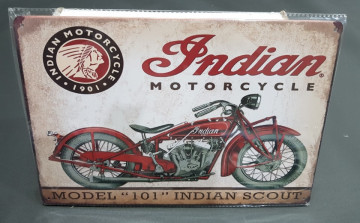 Chapa decorativa com Indian Motorcycle