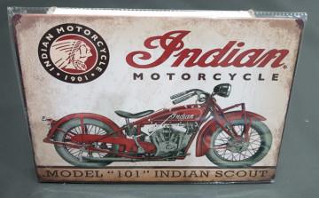 Chapa decorativa com Indian Motorcycle