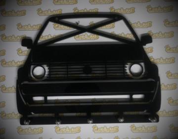 Chaveiro em Acrílico com Volkswagen Golf II