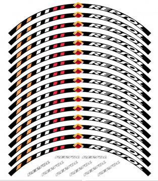 Conjunto de faixas para Jantes com Repsol