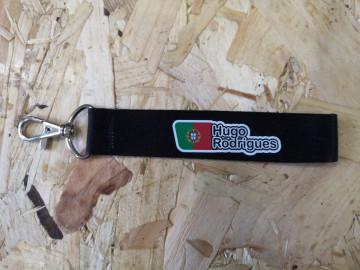 Fita Porta Chaves com Bandeira de Portugal + Nome e apelido