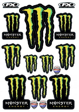 Folha / Pack de Autocolantes - Monster