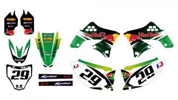 Kit Autocolantes Para Kawasaki KXF 450 09-11