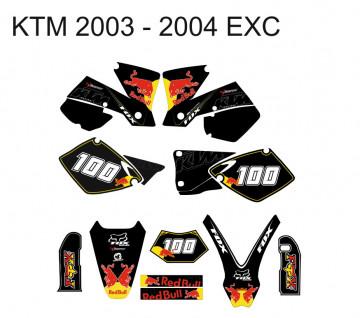 Kit Autocolantes Para KTM EXC 03-04