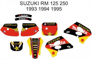 Kit de Autocolantes Para SUZUKI RM 125 250 93-95