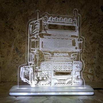 Moldura / Candeeiro com luz de presença com Camião Scania