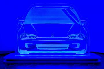 Moldura / Candeeiro com luz de presença - Honda Civic EG