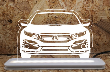 Moldura / Candeeiro com luz de presença - Honda Civic fk8