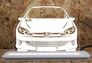 Moldura / Candeeiro com luz de presença - Peugeot 206
