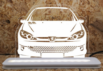 Moldura / Candeeiro com luz de presença - Peugeot 208