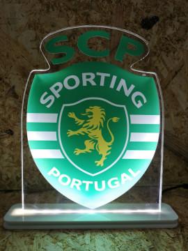 Moldura / Candeeiro com luz de presença - SCP - Sporting