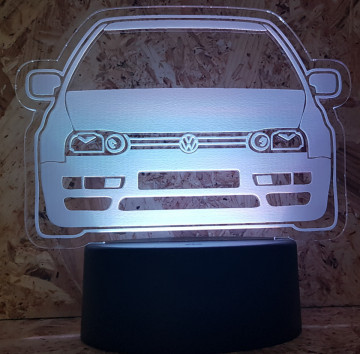 Moldura / Candeeiro com luz de presença - Volkswagen Golf III