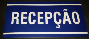Placa PVC - Recepção