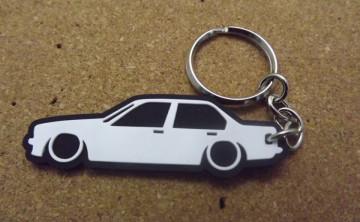 Porta Chaves com silhueta de BMW E30 - Série 3