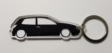 Porta Chaves de Acrílico com silhueta de Fiat Bravo MK1