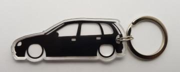 Porta Chaves de Acrílico com silhueta de Opel Corsa B 5 portas