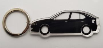 Porta Chaves de Acrílico com silhueta de Renault Megane I