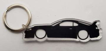 Porta Chaves de Acrílico com silhueta de Toyota Supra