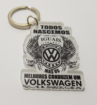 Porta chaves em acrílico - Todos Nascemos Iguais (Volkswagen)