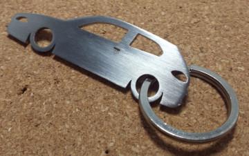 Porta Chaves em inox com silhueta com Alfa Romeo 147