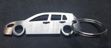 Porta Chaves em inox com silhueta com Volkswagen Golf 6 5 Portas