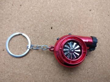 Porta Chaves - Turbo Vermelho - Electrónico (Recarregável) - Com Isqueiro