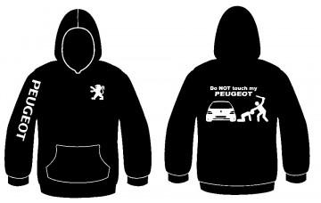 Sweatshirt com capuz com Don't Touch My Peugeot