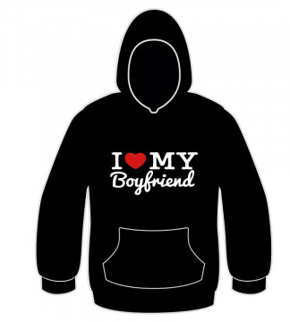 Sweatshirt com capuz - I love my boyfriend