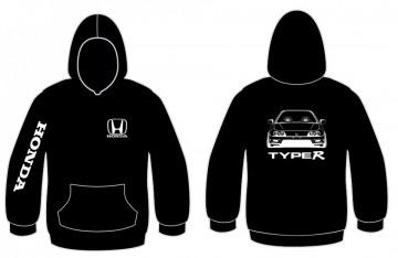 Sweatshirt com capuz para Honda Integra